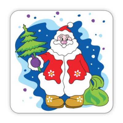 Костер (подставка под кружку) Добрый новогодний Дедушка Мороз