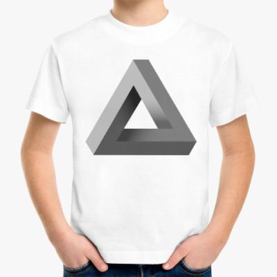 Детская футболка Невозможный Треугольник 3D