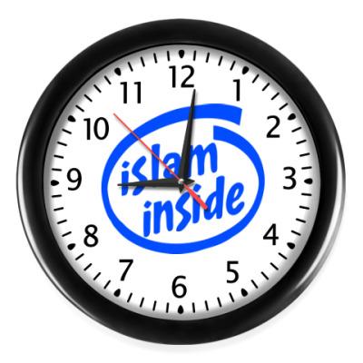 Настенные часы Часы, черные (черные цифры)