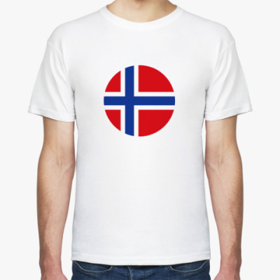 Футболка Norway, Норвегия Флаг