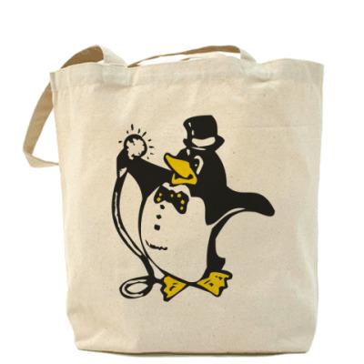 Сумка Пингвин в караоке