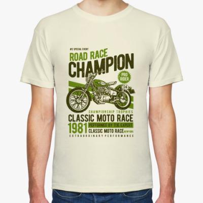 Футболка Road Race Champion Motorcycle Vintage