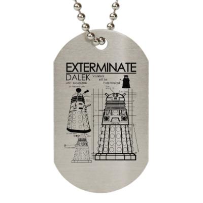 Жетон dog-tag Dalek plan