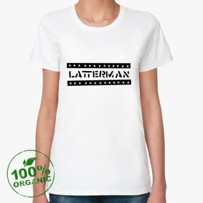Женская футболка из органик-хлопка  Latterman