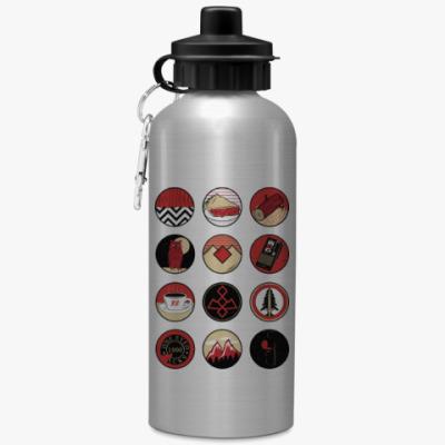 Спортивная бутылка/фляжка Сериал Твин Пикс Twin Peaks