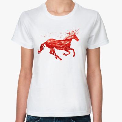 Классическая футболка Рубиновый Единорог
