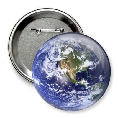 Значок 75мм Земля