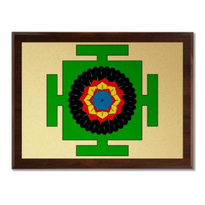 Плакетка Вишну-янтра для медитаций
