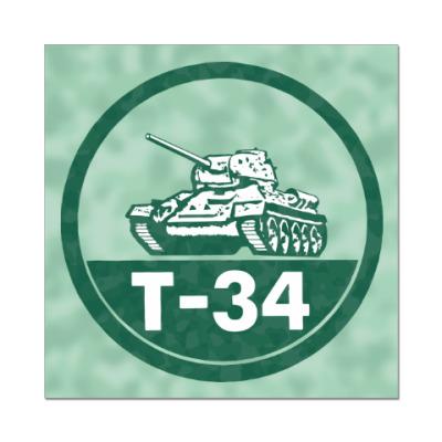 Наклейка (стикер) Танк Т-34
