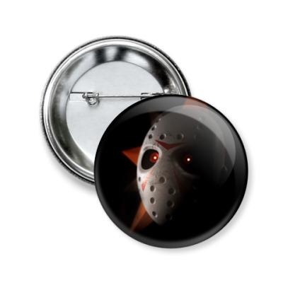 Значок 50мм Лепромаска на черном