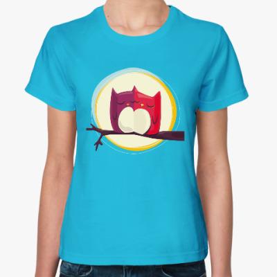 Женская футболка Совы, совушки