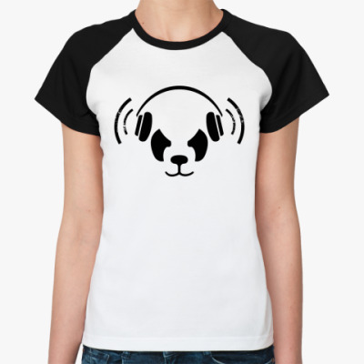 Женская футболка реглан Дабстеп(dubstep), Бас(bass)