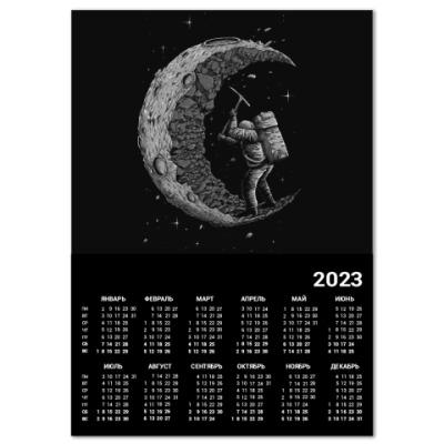 Календарь Moon worker космонавт на луне