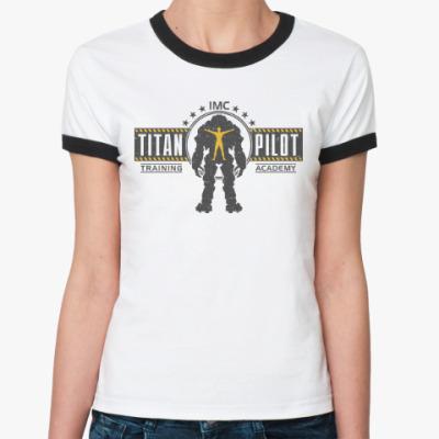 Женская футболка Ringer-T Battlefield Titan Pilot