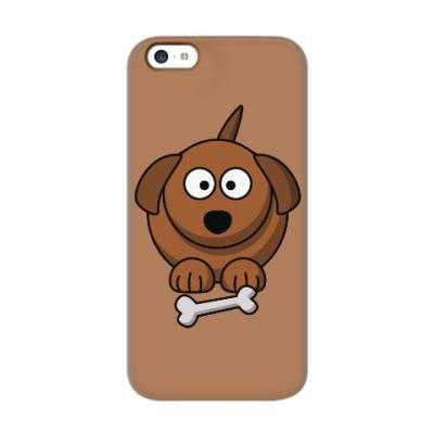 Чехол для iPhone 5c Собачка с косточкой