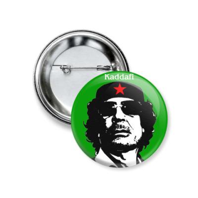 Значок 37мм Каддафи, значок 37 мм