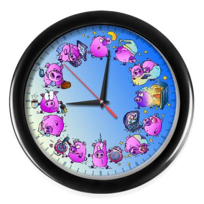 Настенные часы Ночные Свинки