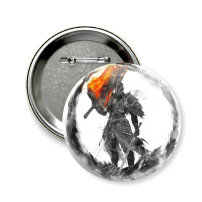 Значок 58мм Dark Souls II  Fume Knight