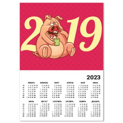 Календарь Fat Pig 2019