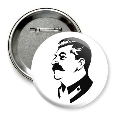 Значок 75мм Сталин СССР