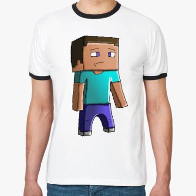Футболка Ringer-T Minecraft Steve