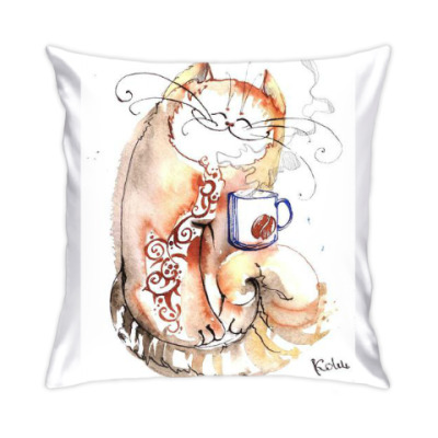 Подушка Кофе и Кот
