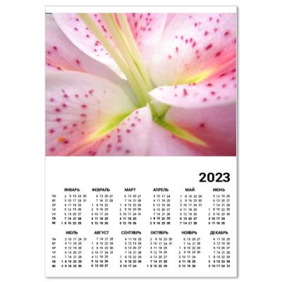 Календарь  Лилия (A3)