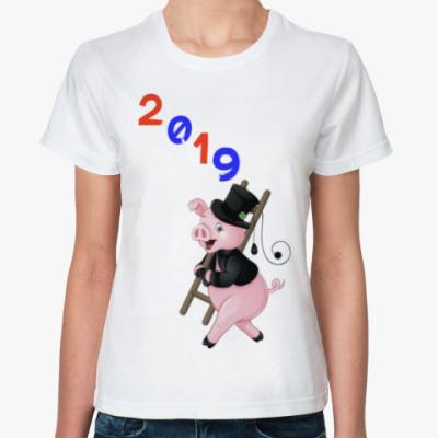 Классическая футболка Piggy Year 2019