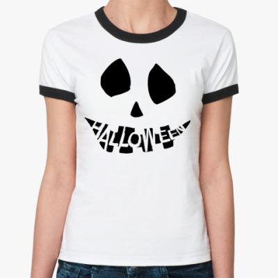 Женская футболка Ringer-T Зомби/Привидение