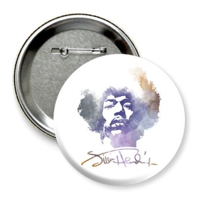 Значок 75мм  Jimi Hendrix - Джими Хендрикс