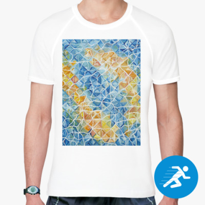Спортивная футболка Рыбы сквозь блики