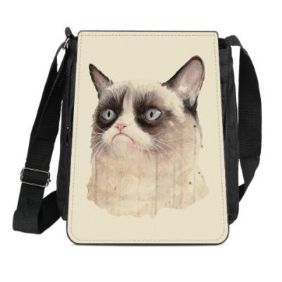 Сумка-планшет Grumpy Cat / Сердитый Кот