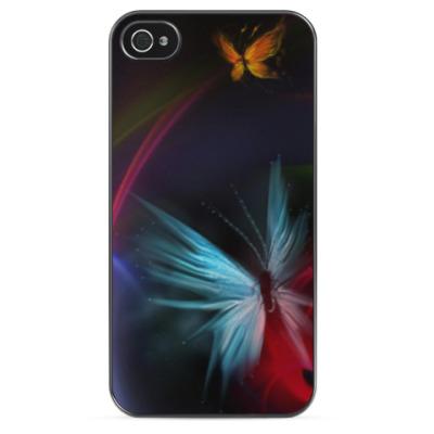 Чехол для iPhone Бабочки из света