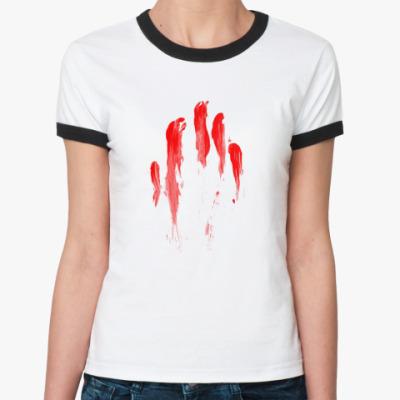 Женская футболка Ringer-T Кровавый след