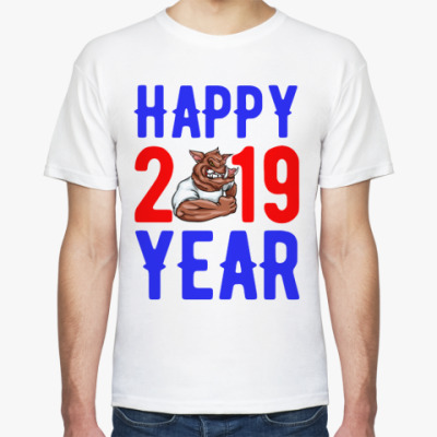 Футболка HAPPY YEAR 2019