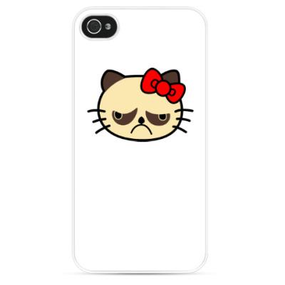 Чехол для iPhone Grumpy Kitty