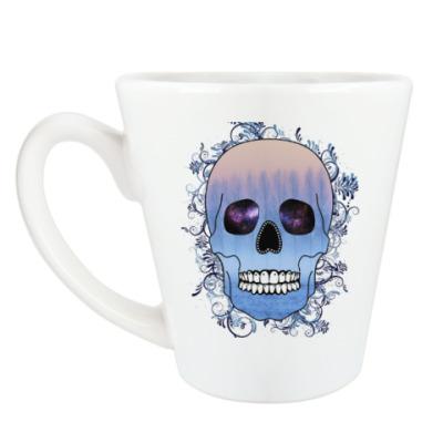 Чашка Латте Череп Зима