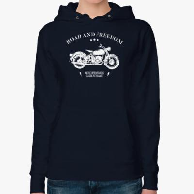 Женская толстовка худи Король дорог (мотоцикл)