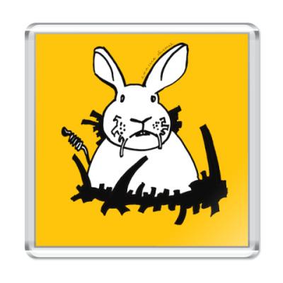 Магнит Кролик белый