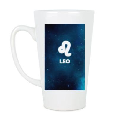 Чашка Латте Знак зодиака. Лев