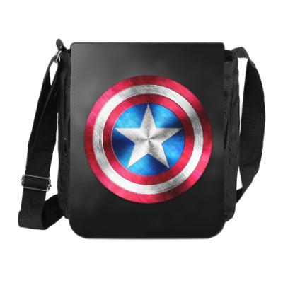 Сумка на плечо (мини-планшет) Captain America