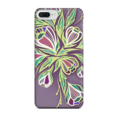 Чехол для iPhone 7 Plus Glowing flowers