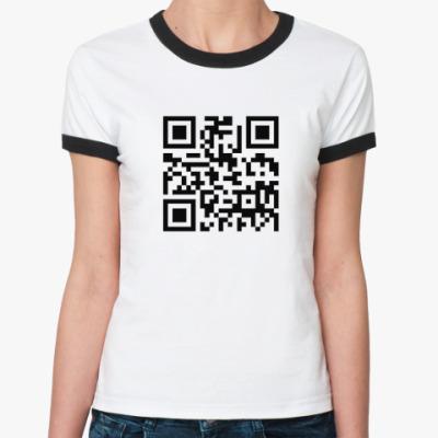 Женская футболка Ringer-T Штрих-код