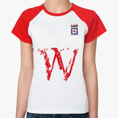 Женская футболка реглан Морской флаг «Whiskey»