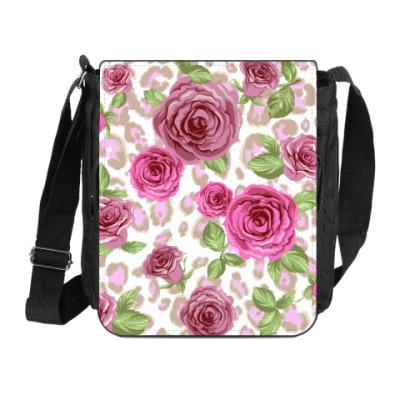 Сумка на плечо (мини-планшет) Розы