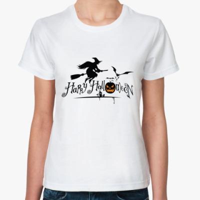 Классическая футболка Happy Halloween (Хэллоуин)