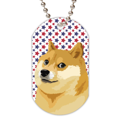 Жетон dog-tag Doge