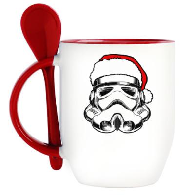 Кружка с ложкой Star Wars New Year