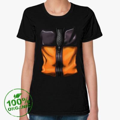 Женская футболка из органик-хлопка Naruto Uzumaki Наруто Узумаки
