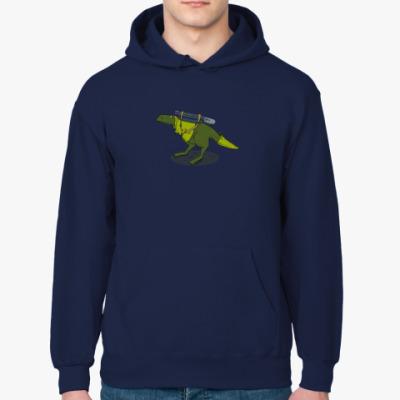 Толстовка худи Тираннозавр-путешественник